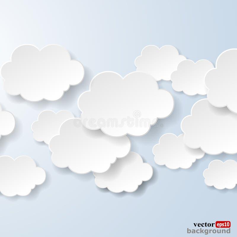 抽象演讲起泡以用于社交的云彩的形式 皇族释放例证