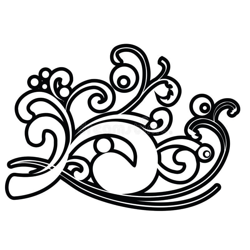 抽象漩涡白色 皇族释放例证