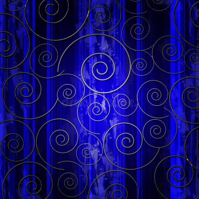 抽象漩涡 向量例证