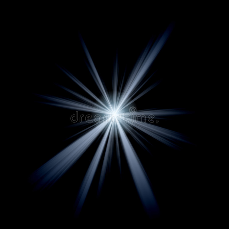 抽象火光透镜 皇族释放例证
