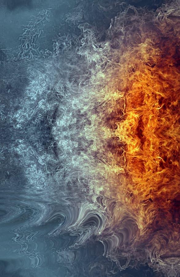 抽象火水 向量例证