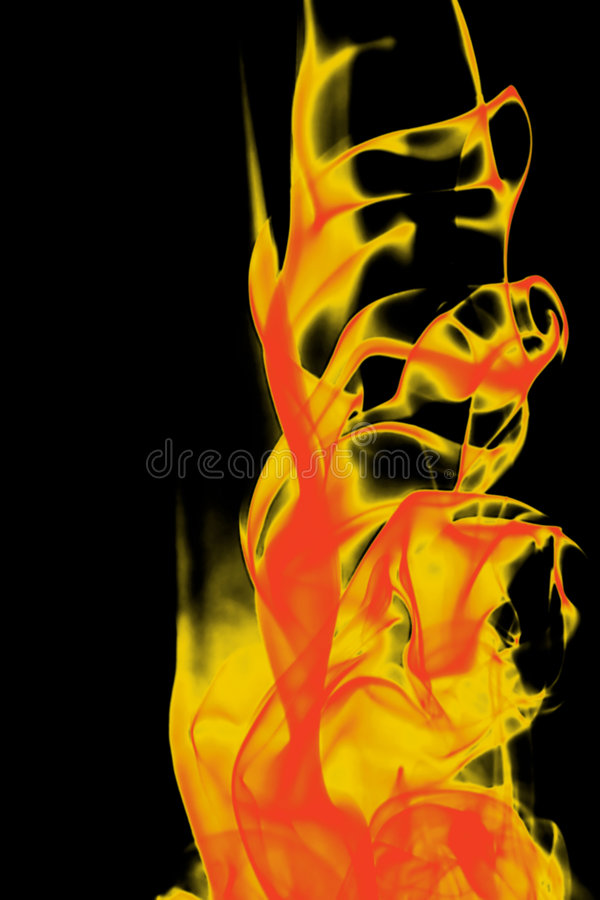 抽象火红色形状黄色 免版税库存照片