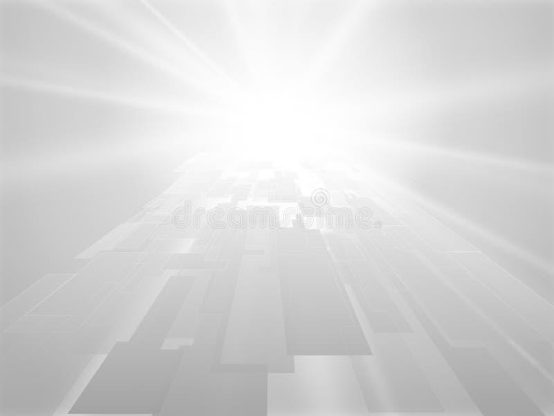 抽象灰色几何透视背景 皇族释放例证