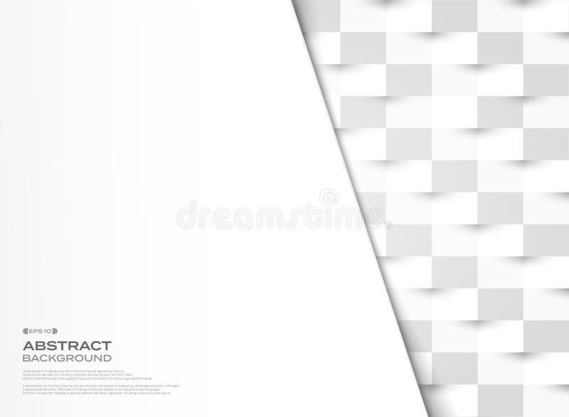 抽象灰色和白皮书削减了几何样式传染媒介设计背景 r 库存例证