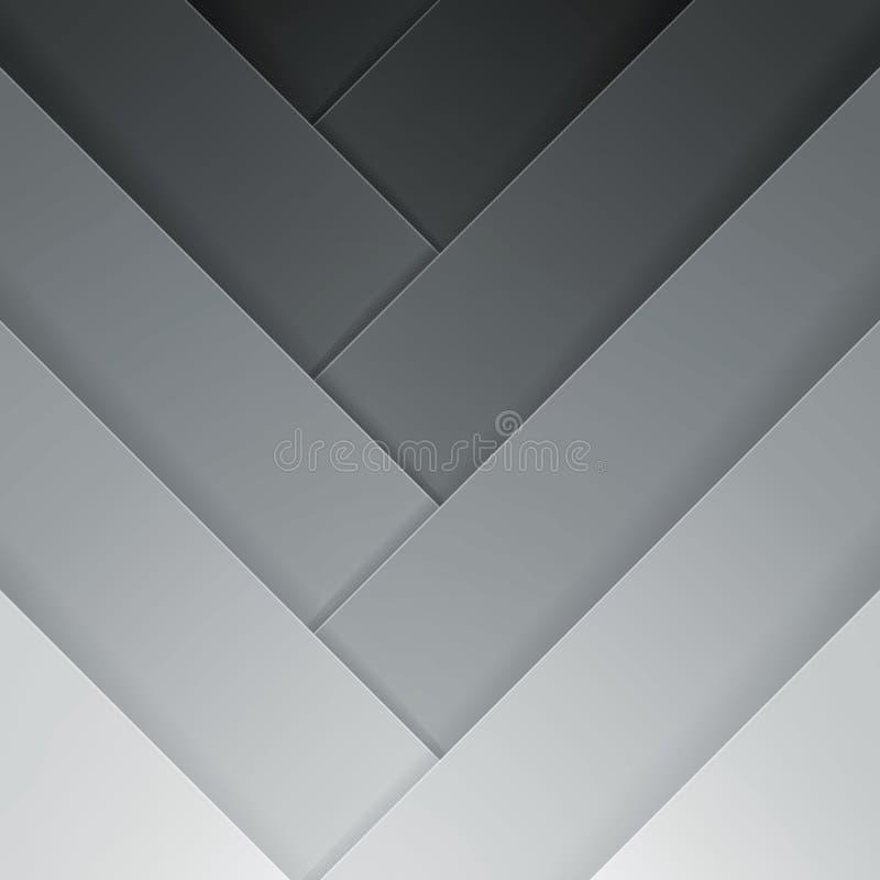 抽象灰色横穿长方形塑造背景 皇族释放例证
