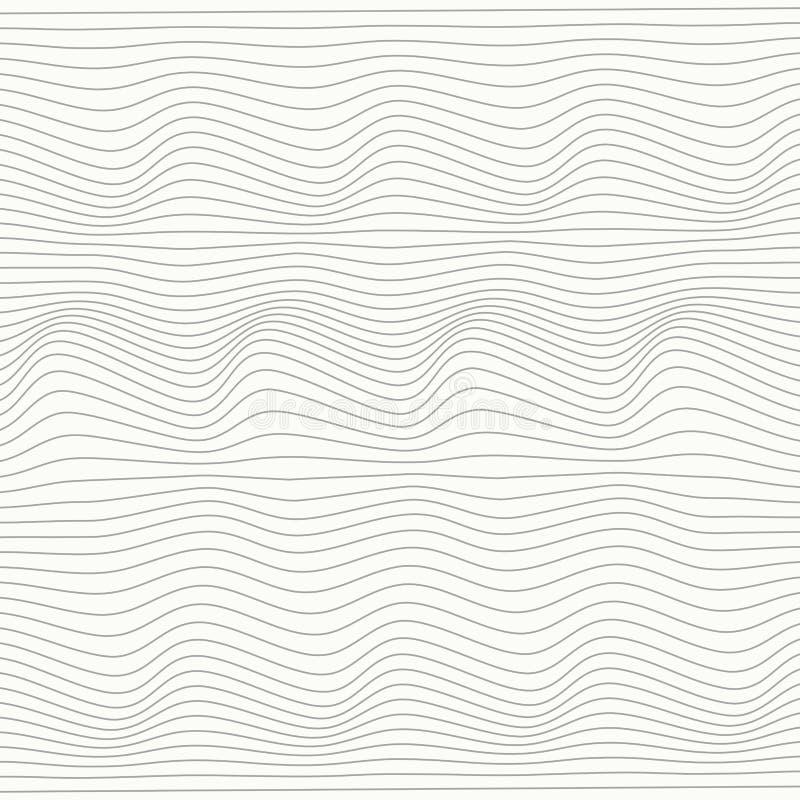 抽象灰色线滤网条纹线在白色背景的设计样式 r 向量例证