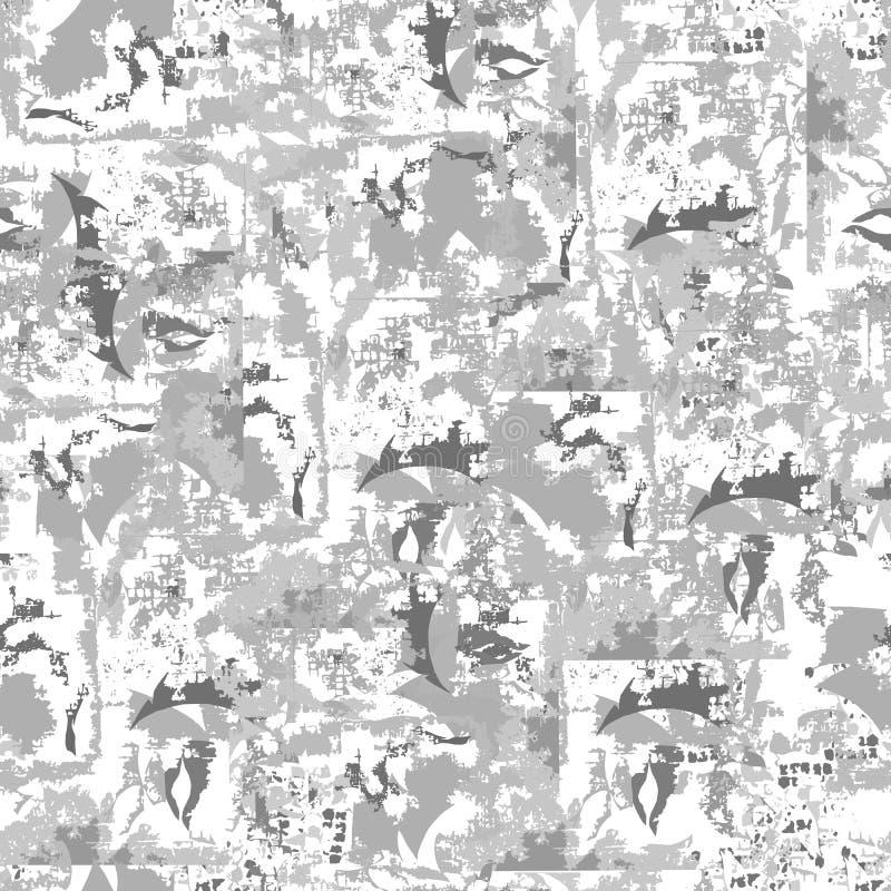抽象灰色背景 轻的纹理 不尽的装饰品 对织品、瓦片和纸和墙纸在墙壁上 向量例证