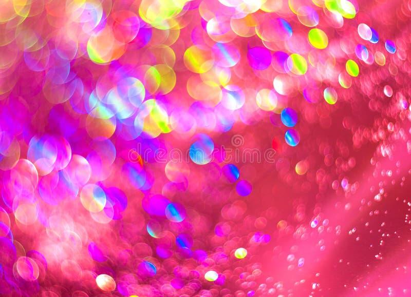抽象灿烂未聚焦的桃红色珍珠背景  免版税库存图片