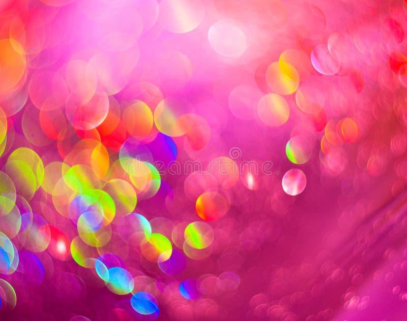 抽象灿烂未聚焦的桃红色珍珠背景  库存照片