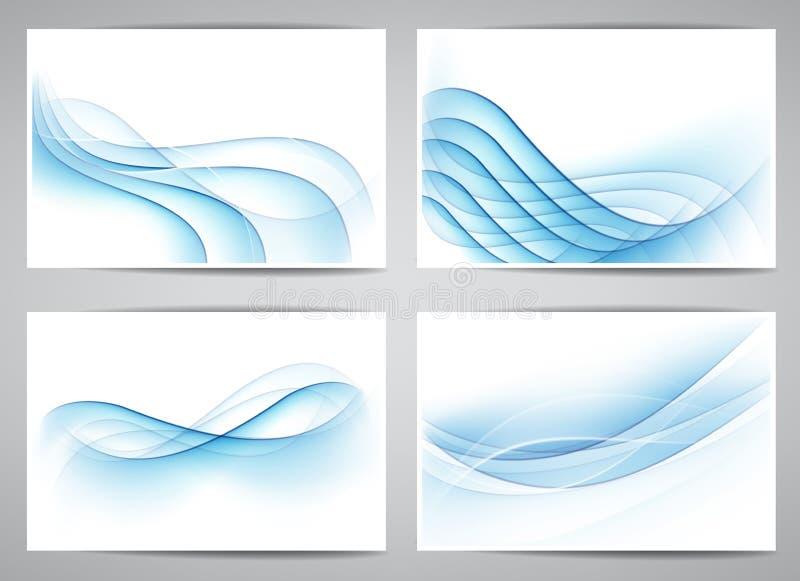 抽象烟波浪横幅。 向量例证