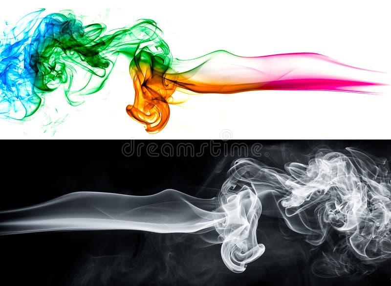 抽象烟背景集合 免版税图库摄影