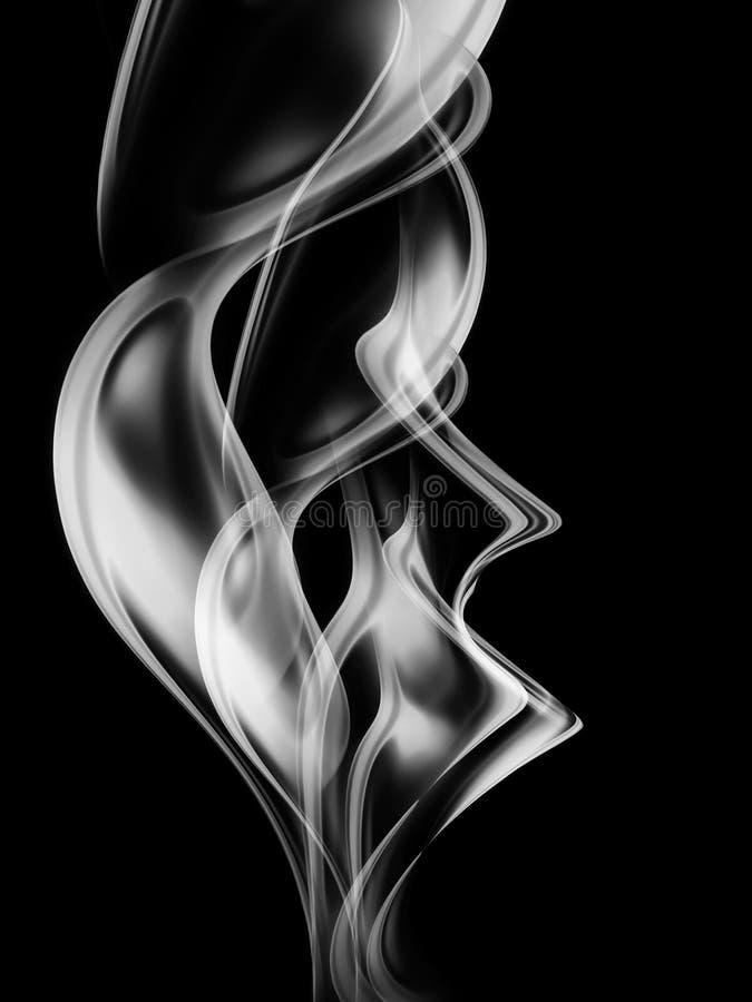 抽象烟 向量例证