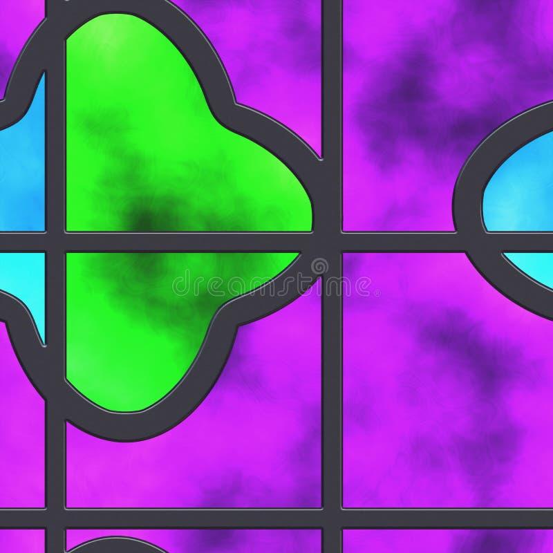 抽象热的彩色玻璃 库存例证