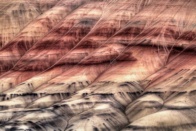 抽象特写镜头小山被绘的俄勒冈 免版税图库摄影