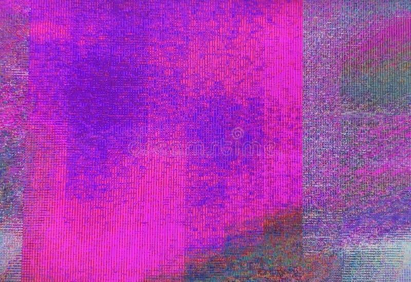 抽象独特小故障数字映象点噪声 小故障纹理错误照相机损伤广播小故障 抽象技术 库存图片
