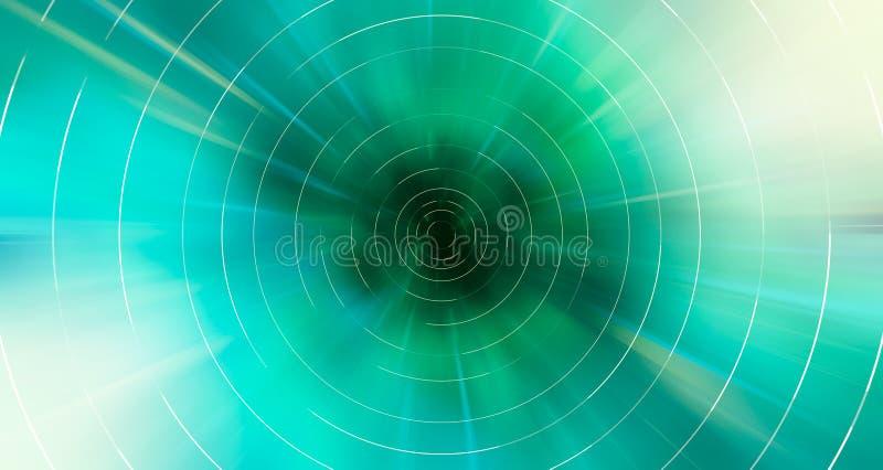 抽象现代五颜六色的行动blured在绿色的背景 向量例证