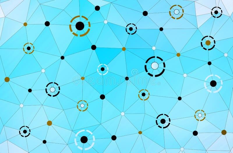 抽象现代几何连接背景包括tria 皇族释放例证