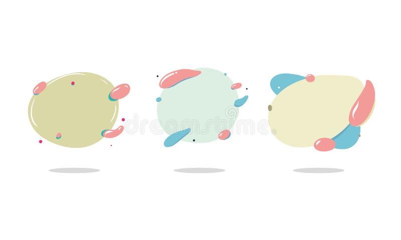 抽象现代图表元素 动画片重点极性集向量 艺术性的盖子设计 向量例证