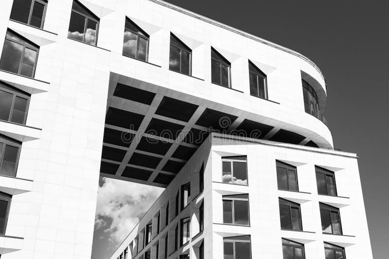 抽象现代大厦建筑细节  免版税库存图片