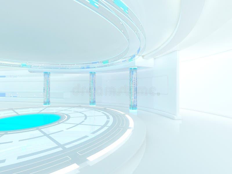 抽象现代建筑学背景 3d翻译 免版税库存照片