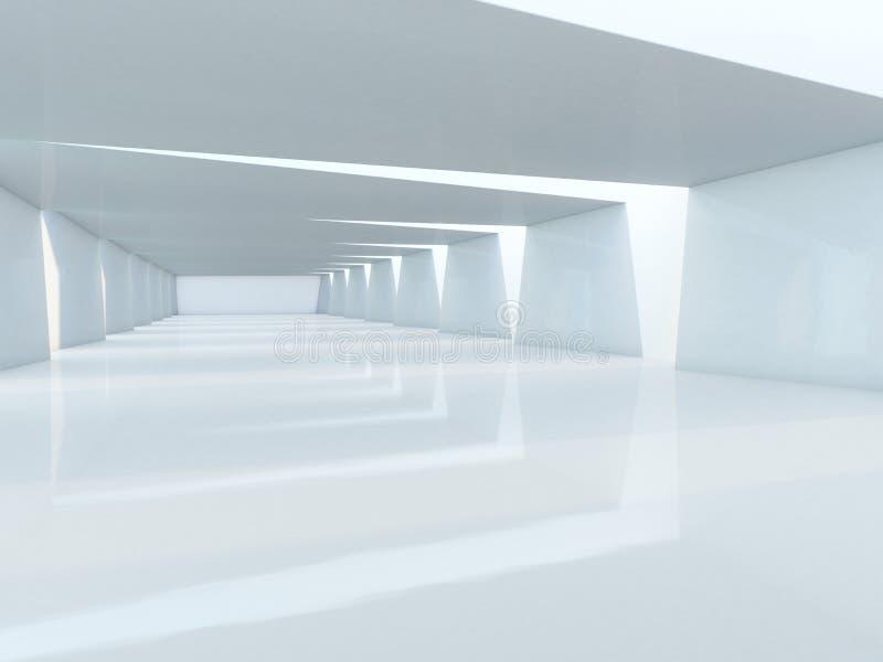 抽象现代建筑学背景 3d翻译 免版税图库摄影