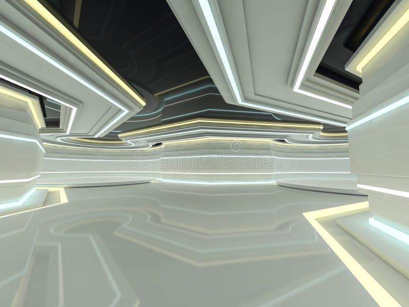 抽象现代建筑学背景 3d翻译 向量例证