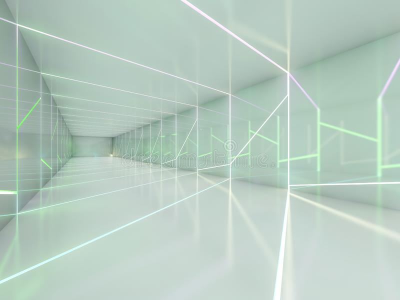 抽象现代建筑学背景 3d翻译 库存例证