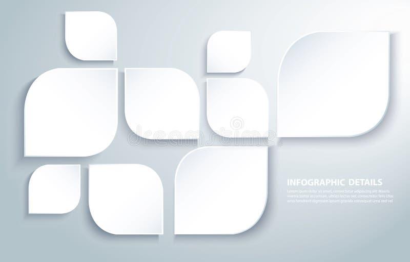 抽象现代正方形生叶背景传染媒介例证eps10 皇族释放例证