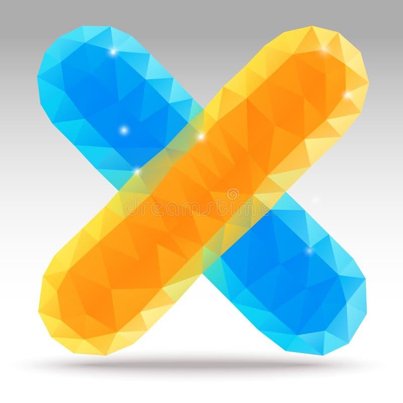 抽象现代三角X 库存例证
