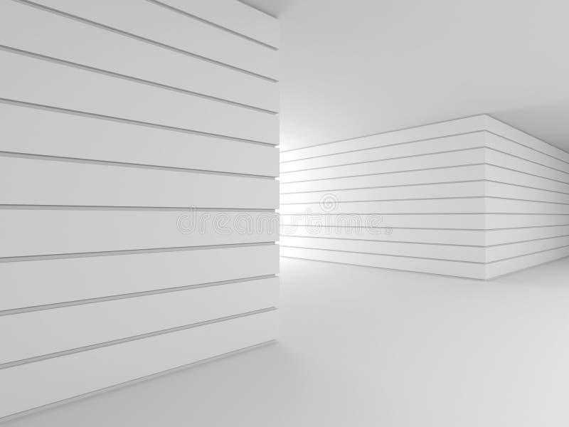 抽象现代内部。3D. 向量例证