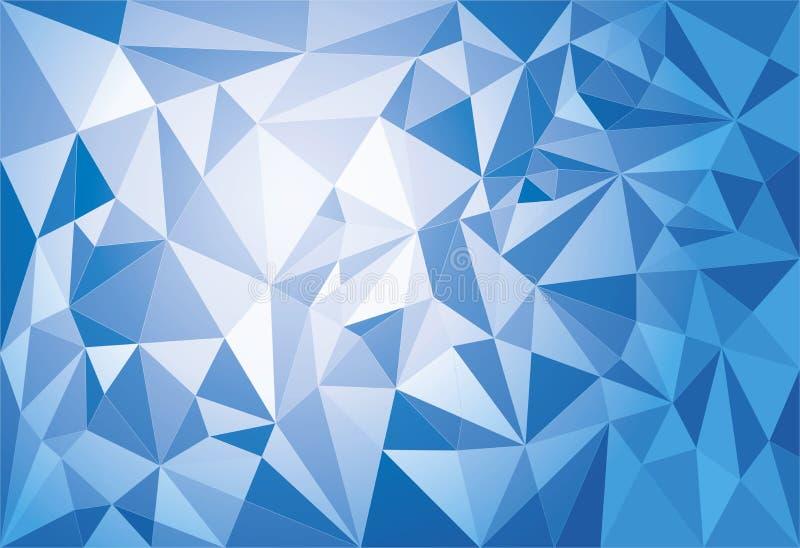 抽象现代几何多角形背景 皇族释放例证