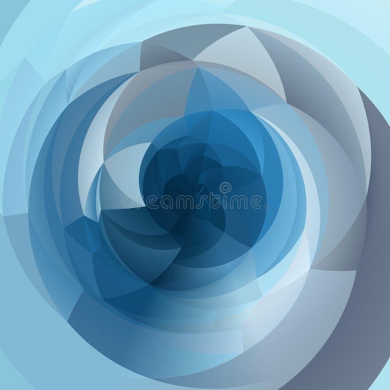 抽象现代几何漩涡背景-色的轻的天蓝色 向量例证