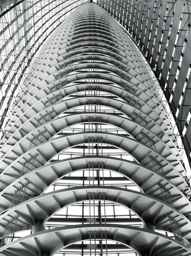抽象现代屋顶建筑 库存照片