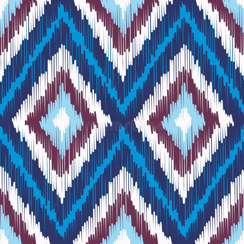 抽象现代种族无缝的织品样式 向量例证