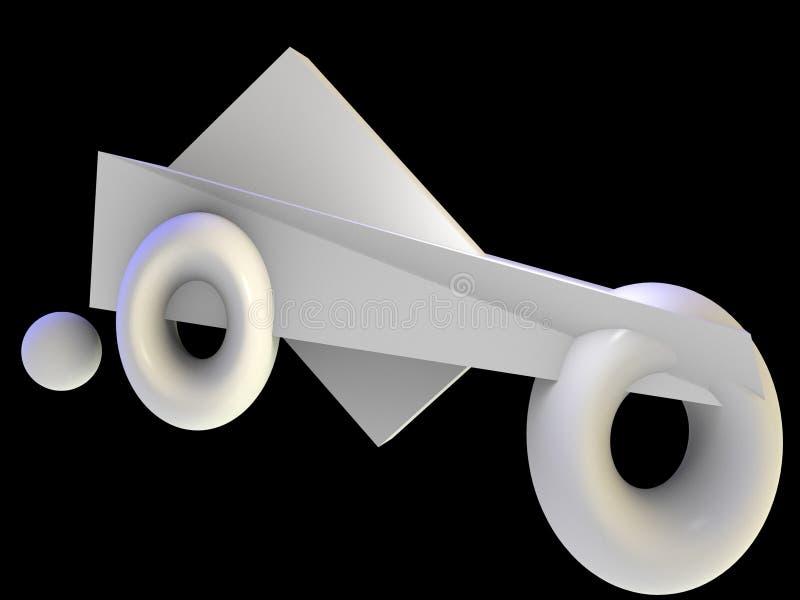 抽象现代艺术汽车 皇族释放例证