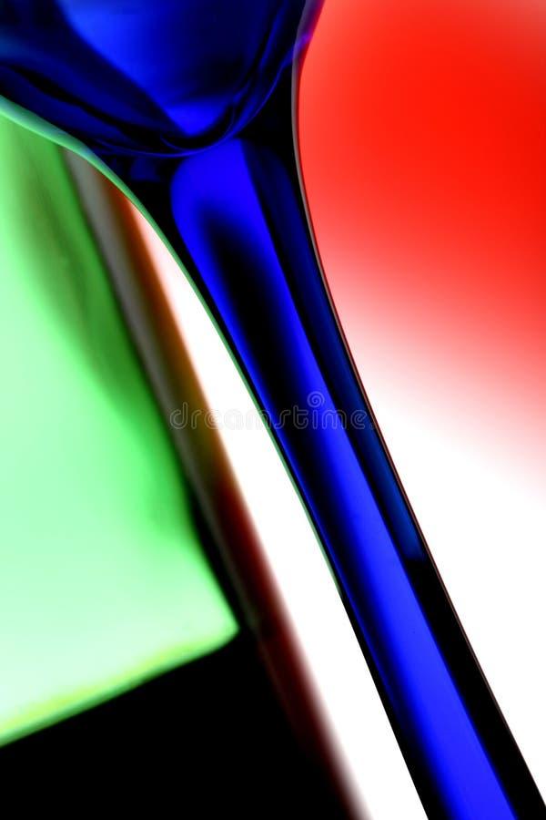 抽象玻璃瓶酒 库存图片