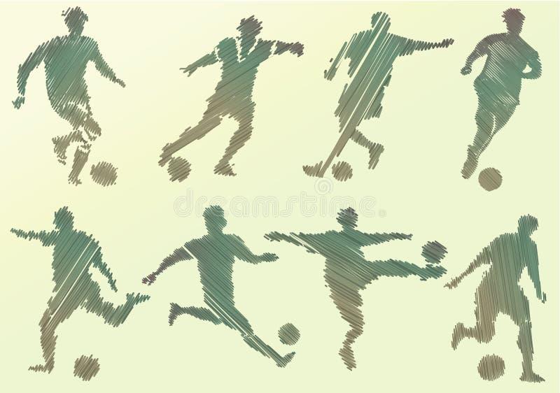 抽象球员足球 库存例证
