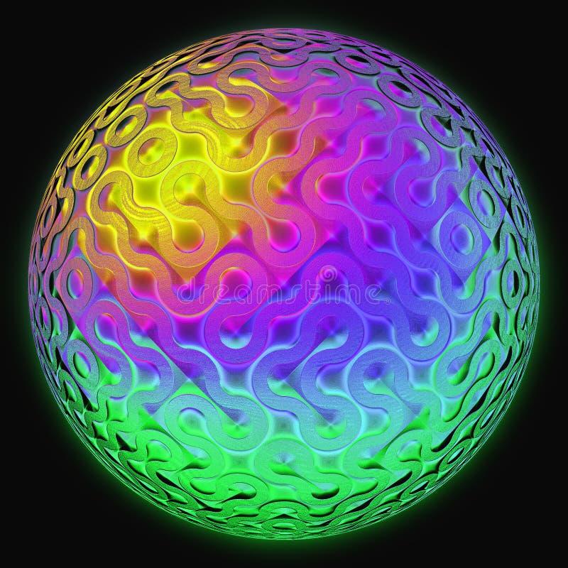 抽象球数字式玻璃高技术 库存例证