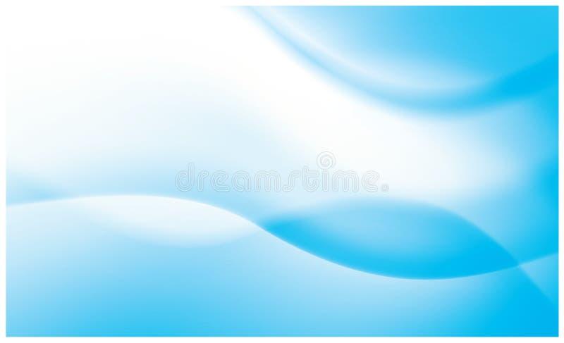 抽象生动背景蓝色的流 皇族释放例证