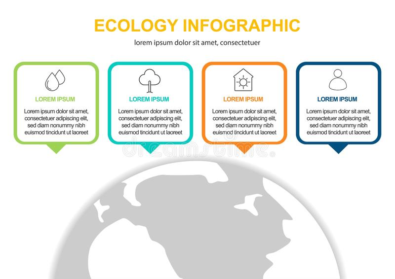 抽象生态概念背景 传染媒介infographic例证 皇族释放例证