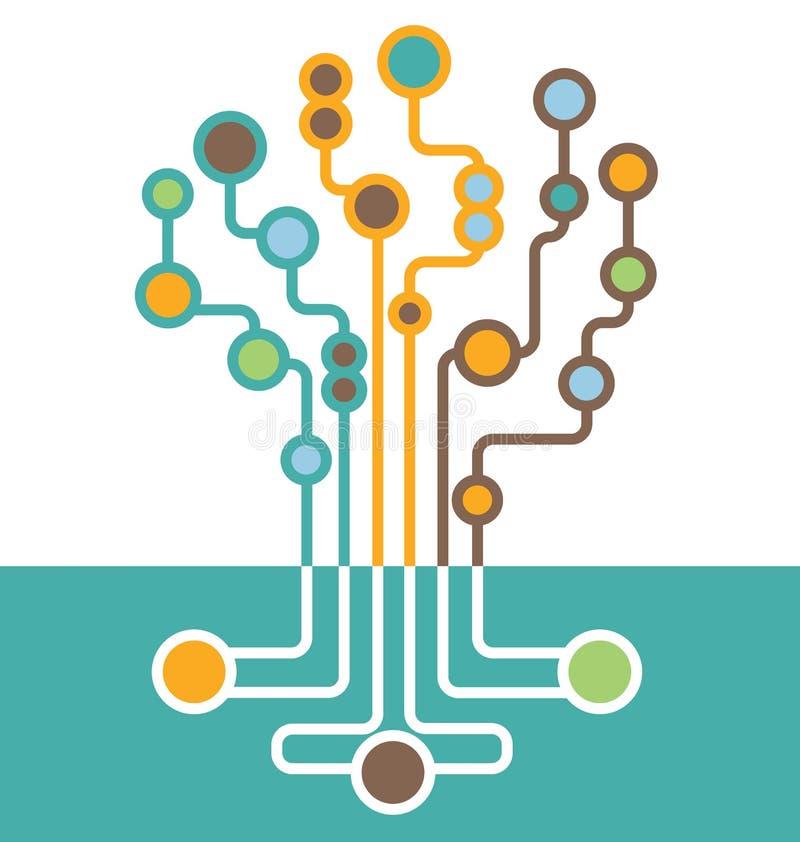 抽象电路板树  库存例证