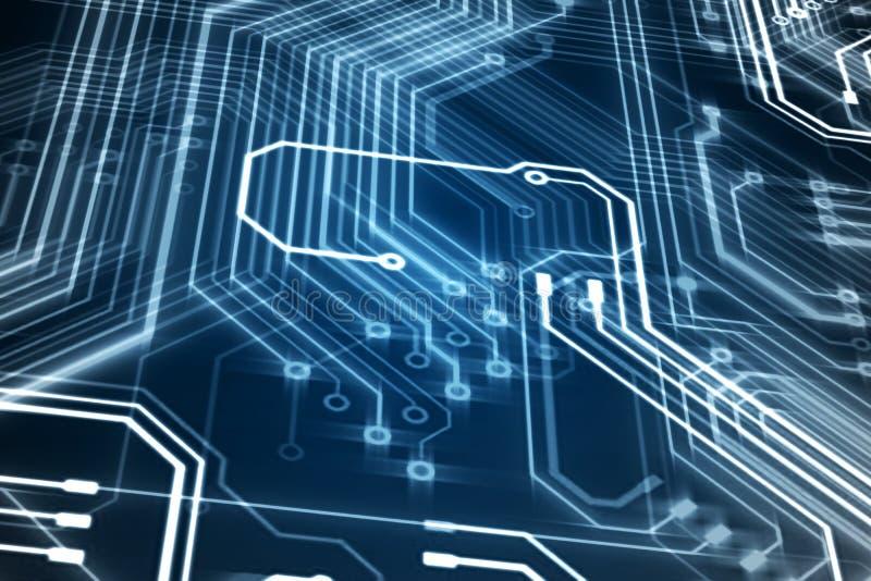 抽象电路板 向量例证