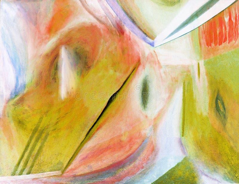 抽象画布油画 库存例证