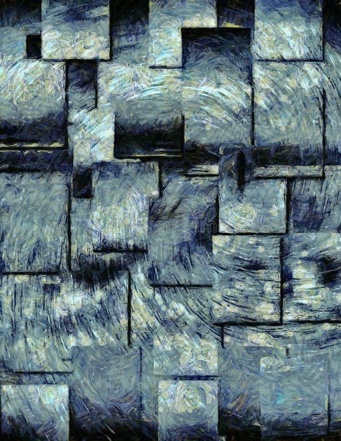 抽象画笔冲程 皇族释放例证