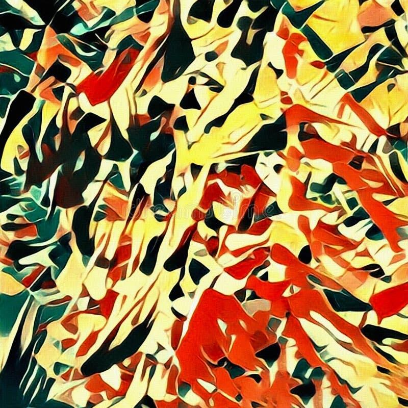 抽象画笔对跟踪的被绘的实际冲程纹理是 皇族释放例证