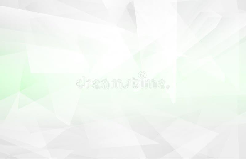 抽象白色内部突出未来 灰色背景,与拷贝空间的Lowpoly背景 白皮书现代多角形backgro 向量例证