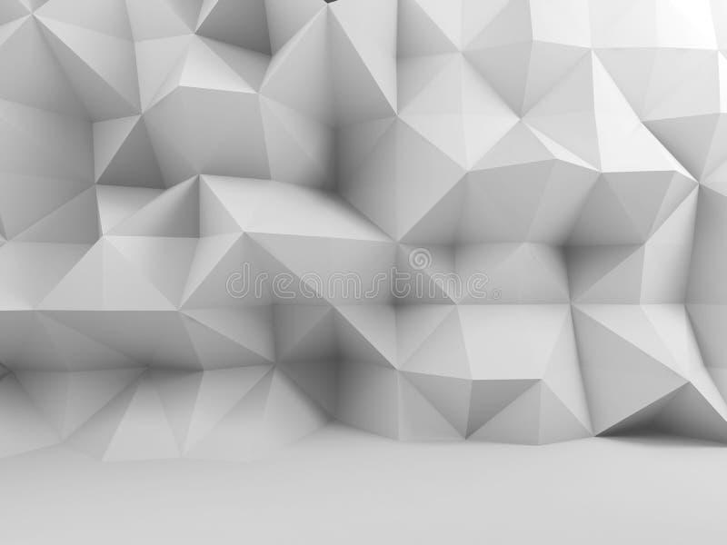 抽象白色内部,锋利的多角形墙壁 皇族释放例证
