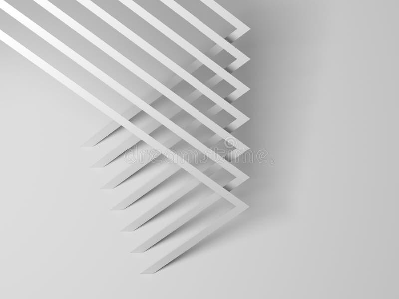 抽象白色几何样式3 d 向量例证