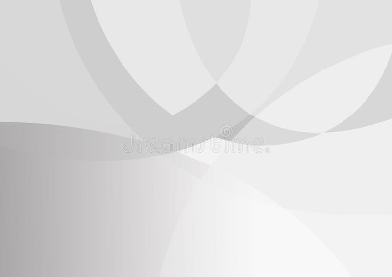 抽象白色和灰色颜色技术现代背景设计传染媒介例证 库存例证