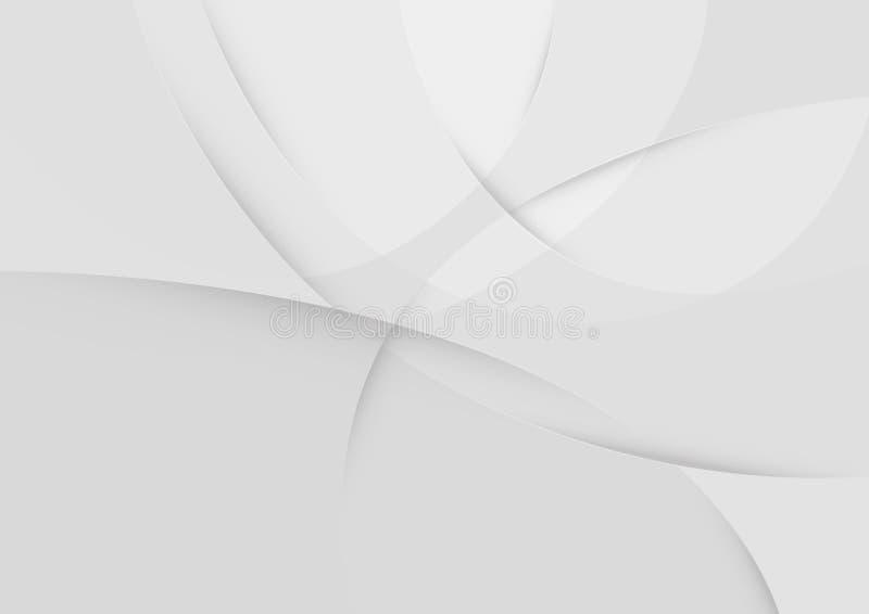 抽象白色和灰色颜色技术现代背景设计传染媒介例证 皇族释放例证